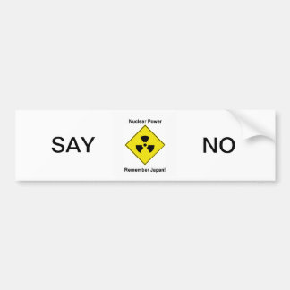 Anti Nuclear Power Logo Bumper Sticker