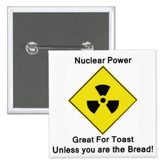 Anti Nuclear Power Logo Button Badge