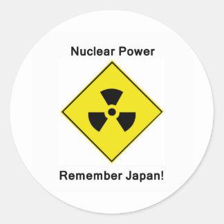 Anti Nuclear Power Logo Round Sticker