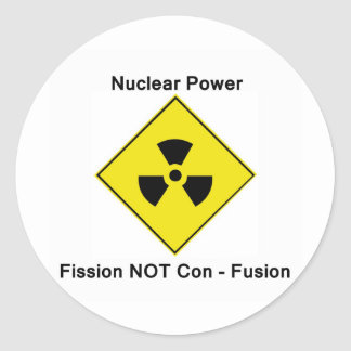 Anti Nuclear Power Logo Round Sticker