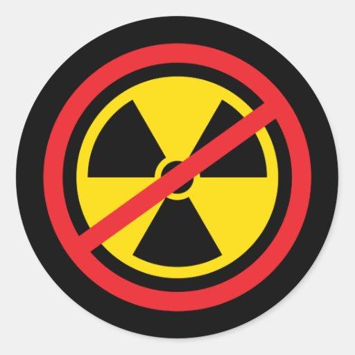 Anti nuclear power radiation symbol stickers