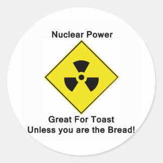 Anti Nuclear Power Round Sticker