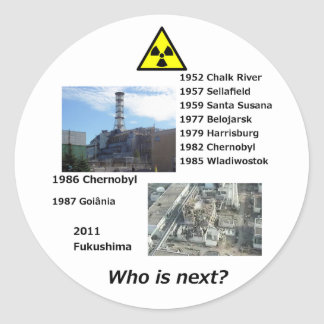 """Anti nuclear power sticker """"Who is next?"""""""