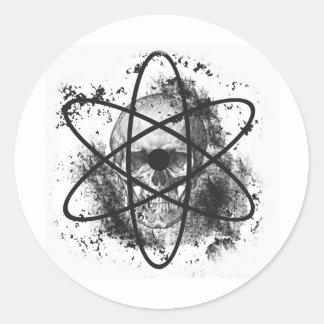 """Anti Nuclear Skeleton""* Round Sticker"