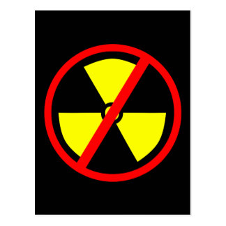 Anti-Nuclear Symbol Postcard