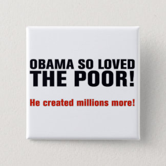 Anti Obama 15 Cm Square Badge