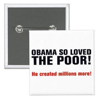 Anti Obama 15 Cm Square Badge