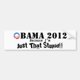 Anti Obama 2012 Bumper Sticker