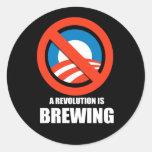 Anti-Obama - a revolution is brewing Sticker