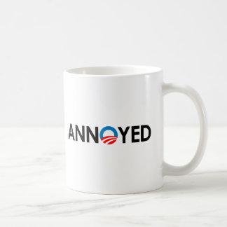 Anti-Obama - Annoyed black Basic White Mug