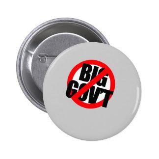 Anti-Obama - Anti- Big Government 6 Cm Round Badge