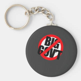 Anti-Obama - Anti- Big Government Basic Round Button Key Ring