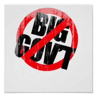 Anti-Obama - Anti- Big Government Faded png Posters