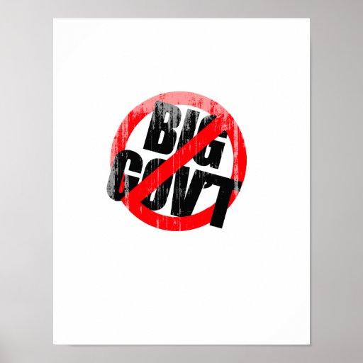Anti-Obama - Anti- Big Government Faded.png Print