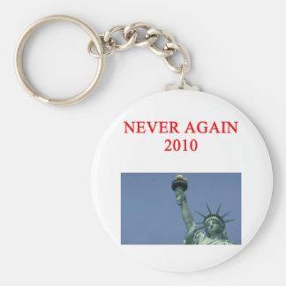 anti obama anti liberal joke basic round button key ring