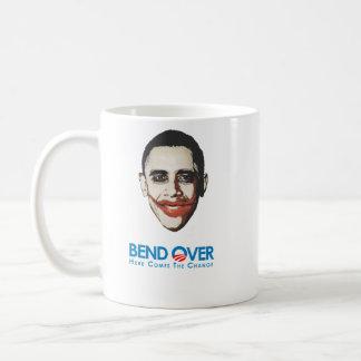 Anti-Obama - Bend Over for change Basic White Mug