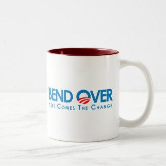 Anti-Obama - Bend Over for change Two-Tone Mug