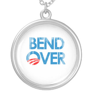 Anti-Obama - Bend Over O Faded.png Necklaces
