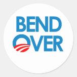 Anti-Obama - Bend Over Round Sticker