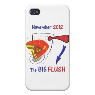 Anti Obama Big Flush Light Background iPhone 4 Cases