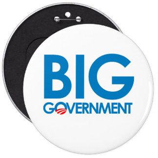 Anti-Obama - Big Government 6 Cm Round Badge
