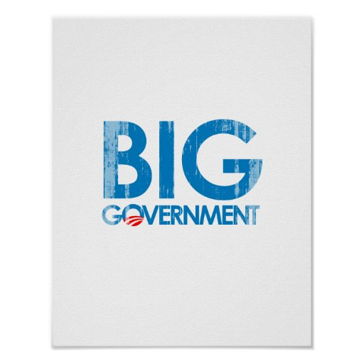 Anti-Obama - Big Government Faded.png Posters