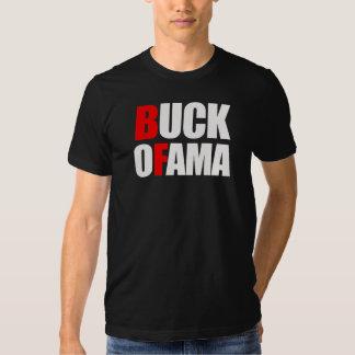 Anti-Obama - BUCK OFAMA 2 white Shirt
