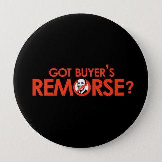 Anti-Obama Bumpersticker - Got buyers remorse 10 Cm Round Badge