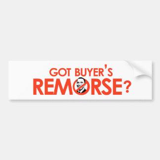 Anti-Obama Bumpersticker - Got buyers remorse Bumper Sticker