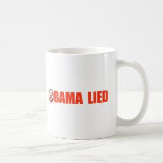 Anti-Obama Bumpersticker - Obama Lied Mugs