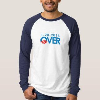 Anti-Obama Bumpersticker - Over 1-20-2013 Tee Shirt