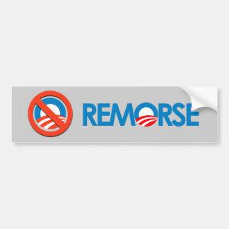 Anti-Obama Bumpersticker - Remorse Bumper Sticker