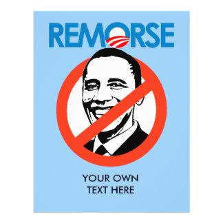 Anti-Obama Bumpersticker - Remorse 21.5 Cm X 28 Cm Flyer
