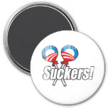 Anti-Obama Bumpersticker - Suckers Faded.png Fridge Magnets