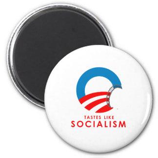 Anti-Obama Bumpersticker - Tastes like Socialism 6 Cm Round Magnet