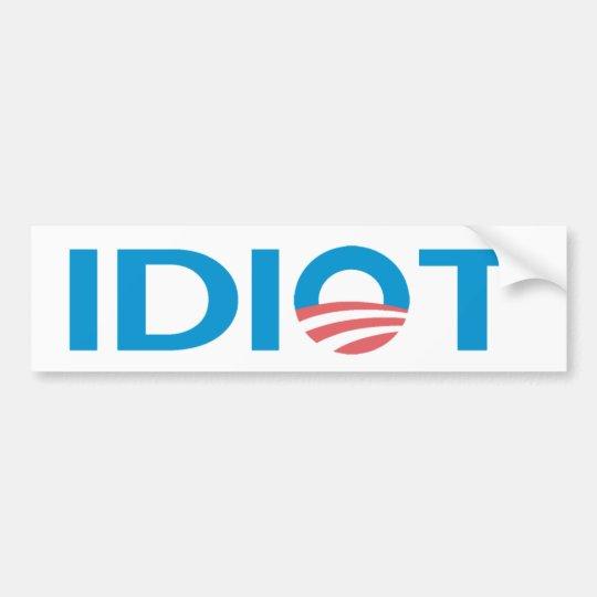 Anti Obama Bumperstickers Bumper Sticker