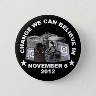 Anti Obama - Change We Can Believe In 6 Cm Round Badge