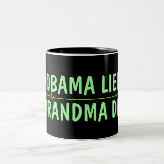 Anti Obama coffee Two-Tone Coffee Mug