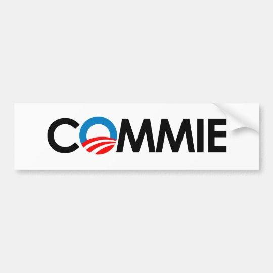 Anti-Obama - Commie black Bumper Sticker