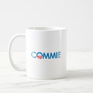 ANTI-OBAMA - COMMIE- Faded.png Basic White Mug