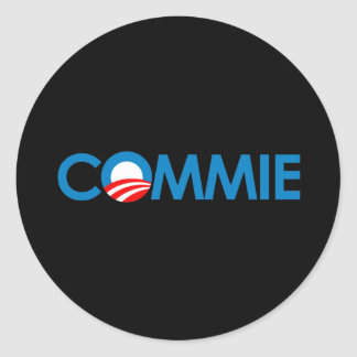 Anti-Obama - Commie Round Sticker