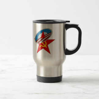 ANTI OBAMA COMMUNIST /SOCIALIST STAR SYMBOL TRAVEL MUG