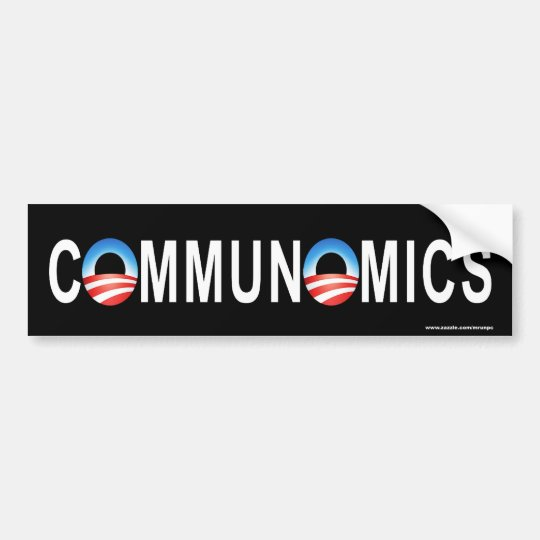 "anti Obama ""Communomics"" bumper sticker"