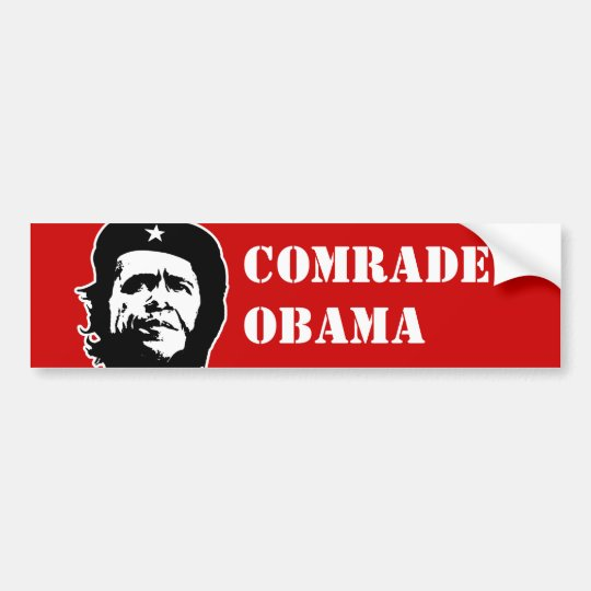 ANTI-OBAMA / COMRADE OBAMA BUMPERSTICKER BUMPER STICKER