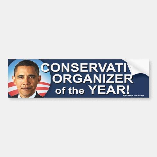 "anti Obama ""Conservative Organiser"" Sticker Bumper Sticker"