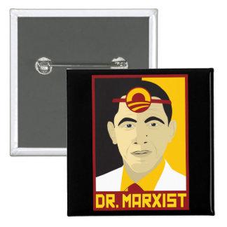 Anti-Obama: Doctor Marxist 15 Cm Square Badge