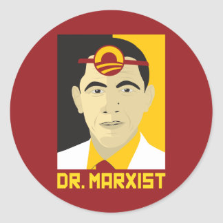 Anti-Obama: Doctor Marxist Round Sticker