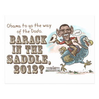 Anti-Obama Dodo Extinction 2012 Postcard