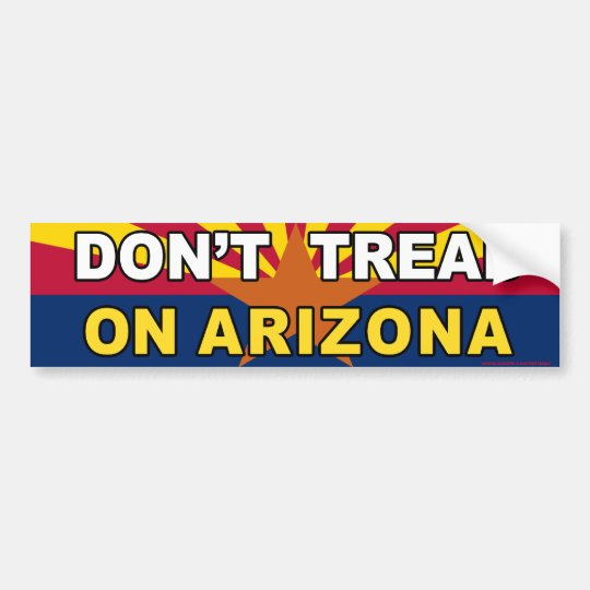"anti Obama ""Don't Tread On Arizona"" sticker"
