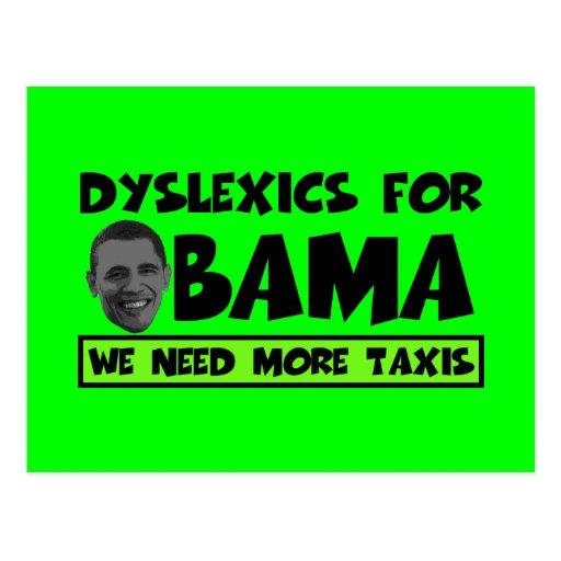 Anti Obama dyslexia Postcards